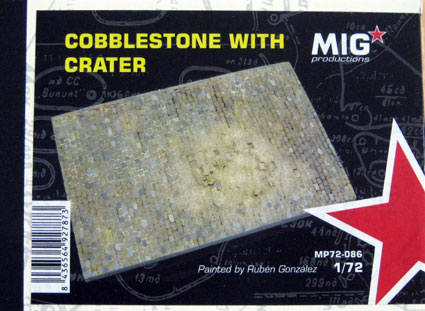 Cobblestone with crater