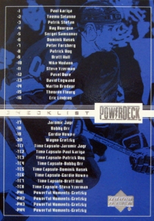 Checklist 1999-00 Upper Deck Power Deck